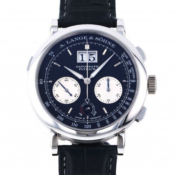 ランゲ&ゾーネ A.LANGE & SOHNE ダトグラフ アップダウン 405.035 ブラック文字盤 メンズ 腕時計 【中古】