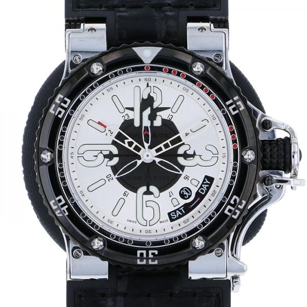 【期間限定ポイント5倍 5/5~5/31】 アクアノウティック AQUANAUTIC キングサブコマンダー KSP00S03NBS03 シルバー/ブラック文字盤 メンズ 腕時計 【新古品】