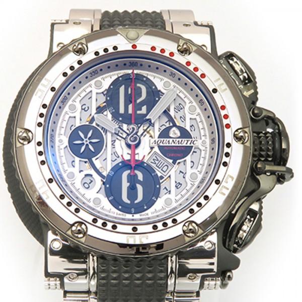 アクアノウティック AQUANAUTIC キングサブクロノダイブ KRP0203HWNAT02 シルバー/ブラック文字盤 メンズ 腕時計 【新品】