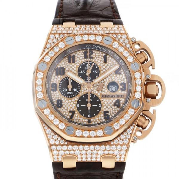 オーデマ・ピゲ AUDEMARS PIGUET ロイヤルオークオフショア クロノグラフ 26215OR.ZZ.A801CR.01 全面ダイヤ文字盤 メンズ 腕時計 【新品】