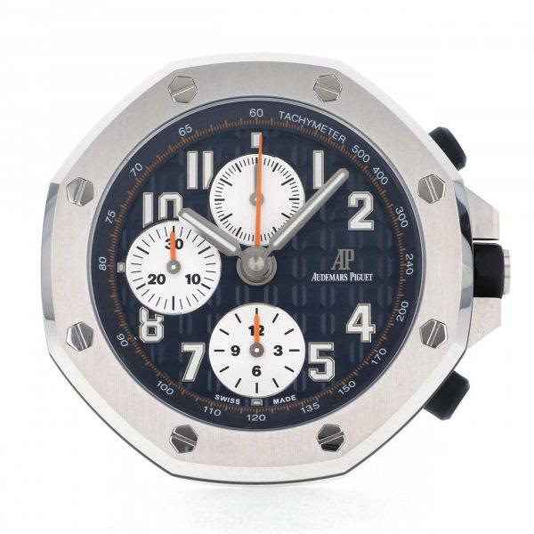 オーデマ・ピゲ AUDEMARS PIGUET ロイヤルオークオフショア テーブルクロック - ブルー文字盤 メンズ 腕時計 【新品】