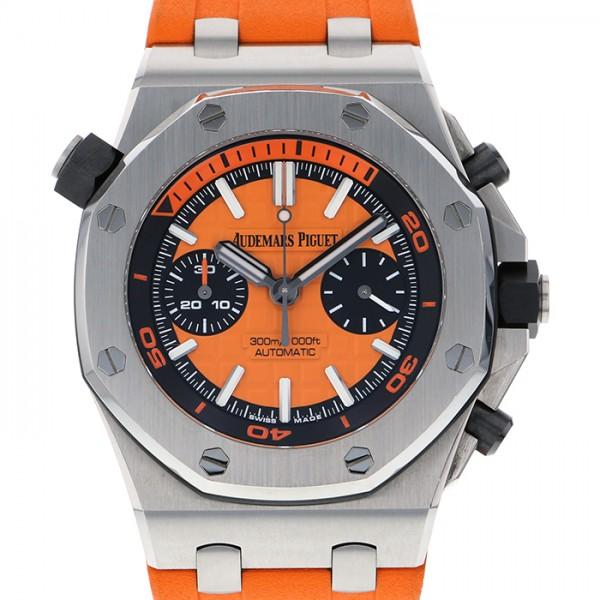 オーデマ・ピゲ AUDEMARS PIGUET ロイヤルオークオフショア ダイバー クロノグラフ ブティック限定モデル 26703ST.OO.A070CA.01 オレンジ文字盤 メンズ 腕時計 【中古】