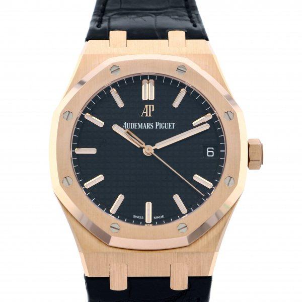 オーデマ・ピゲ AUDEMARS PIGUET ロイヤルオーク オートマティック 15500OR.OO.D002CR.01 ブラック文字盤 メンズ 腕時計 【未使用】