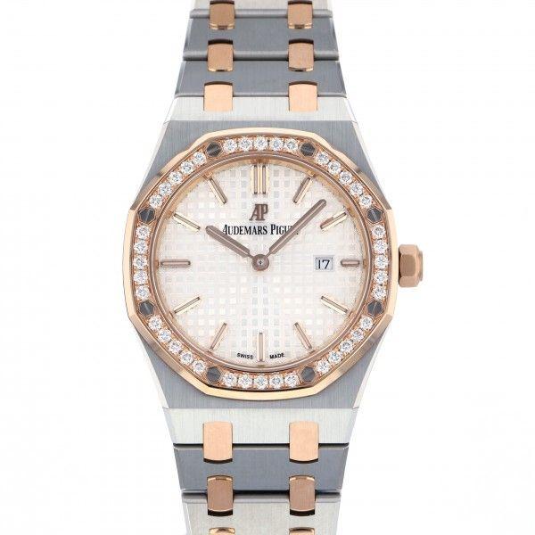 オーデマ・ピゲ AUDEMARS PIGUET ロイヤルオーク クォーツ 67651SR.ZZ.1261SR.01 ホワイト文字盤 レディース 腕時計 【新品】