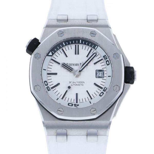 オーデマ・ピゲ AUDEMARS PIGUET ロイヤルオークオフショア ダイバー 15710ST.OO.A002CA.02 ホワイト文字盤 メンズ 腕時計 【中古】