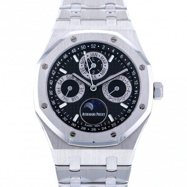 オーデマ・ピゲ AUDEMARS PIGUET ロイヤルオーク パーペチュアルカレンダー 26597PT.OO.1220PT.01 ブラック文字盤 メンズ 腕時計 【中古】