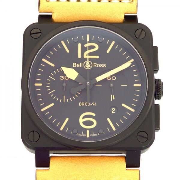 【期間限定ポイント5倍 5/5~5/31】 ベル&ロス BELL&ROSS その他 ヘリテージ BR03-94 ブラック文字盤 メンズ 腕時計 【新古品】