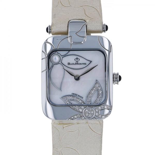 ビジュモントレ BIJOUMONTRE その他 スクエア ダイヤモンド 999本限定 9050HT ホワイト文字盤 レディース 腕時計 【中古】