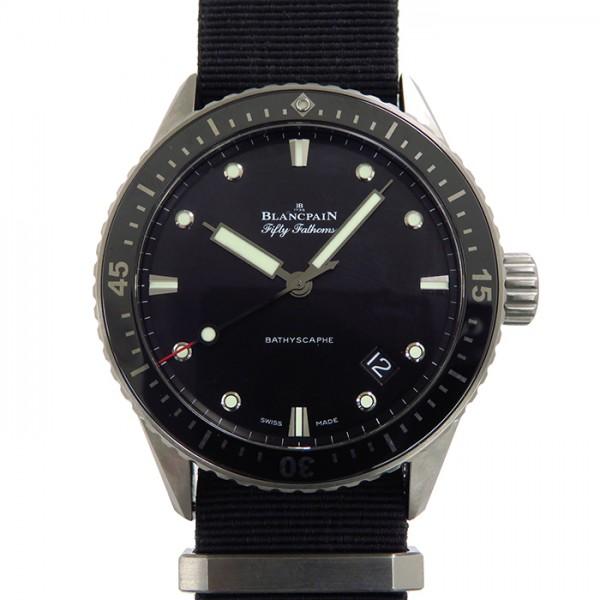 【期間限定ポイント5倍 5/5~5/31】 ブランパン BLANCPAIN その他 フィフティ ファゾムス バチスカーフ 5000-1110-NAKA ブラック文字盤 メンズ 腕時計 【中古】