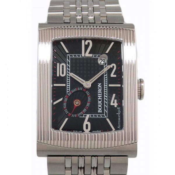 ブシュロン BOUCHERON リフレ XL WA009214 ブラック文字盤 メンズ 腕時計 【新品】