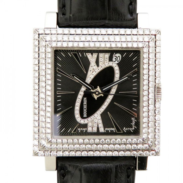 【期間限定ポイント5倍 5/5~5/31】 ブシュロン BOUCHERON その他 キャレ WA011306 ブラック文字盤 メンズ 腕時計 【新品】