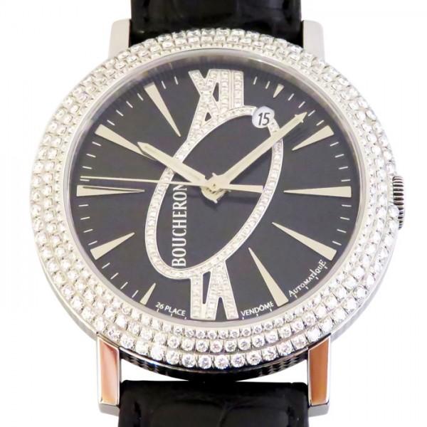 【期間限定ポイント5倍 5/5~5/31】 ブシュロン BOUCHERON その他 ロンド オートマチック ベゼルダイヤ WA010308 ブラック文字盤 メンズ 腕時計 【新品】