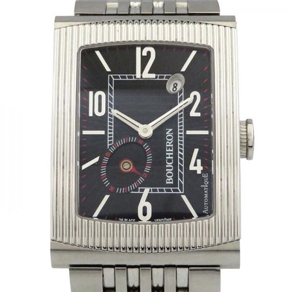 【期間限定ポイント5倍 5/5~5/31】 ブシュロン BOUCHERON その他 リフレ XL WA009214 ブラック文字盤 メンズ 腕時計 【中古】