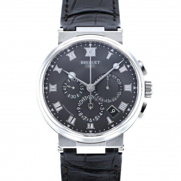 【同梱不可】 ブレゲ メンズ Breguet 5527TI/G2/9WV マリーン クロノグラフ 5527TI 腕時計/G2/9WV グレー文字盤 新品 腕時計 メンズ, 平田村:3fe8ce51 --- verandasvanhout.nl