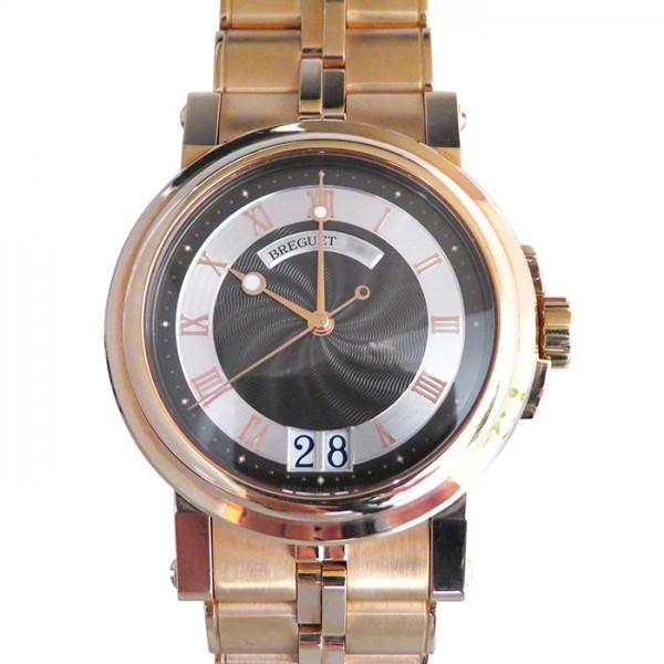 ブレゲ BREGUET マリーン II ラージデイト 5817BR/Z2/RV0 ブラック/シルバー文字盤 メンズ 腕時計 【中古】