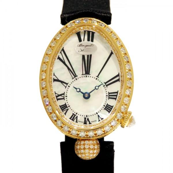 ブレゲ BREGUET クイーンオブネイプルズ ベゼルダイヤ 8928BA/51/844 DD0D ホワイト文字盤 レディース 腕時計 【新品】
