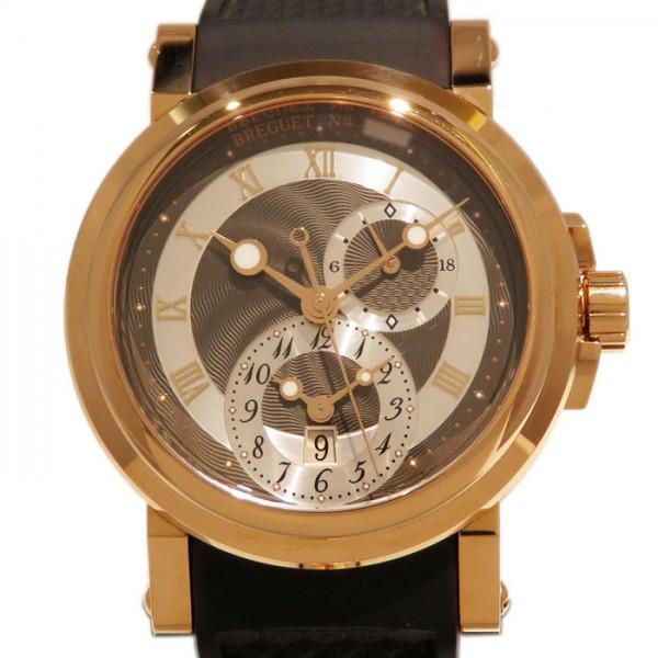 ブレゲ BREGUET マリーン GMT 5857BR/Z2/5ZU グレー/シルバー文字盤 腕時計 【新品】