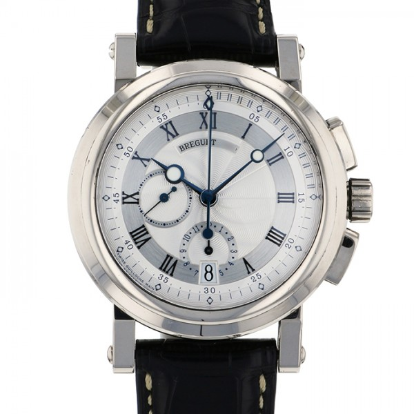 new york b4d91 a2514 ブレゲ BREGUET マリーン クロノグラフ 5827BB/12/5ZU シルバー文字盤 メンズ 腕時計 ...