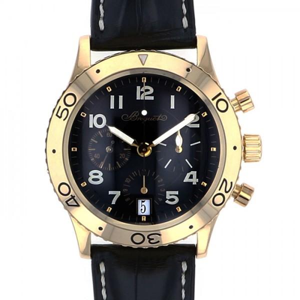 ブレゲ BREGUET トランスアトランティック 3820BA ブラック文字盤 メンズ 腕時計 【中古】