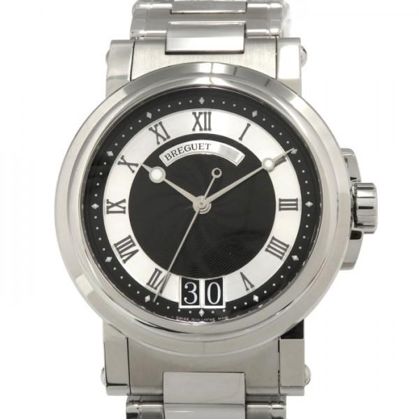 ブレゲ Breguet マリーン ll ラージデイト 絶品 5817ST メンズ ブラック文字盤 腕時計 新品 92 SMO 国際ブランド