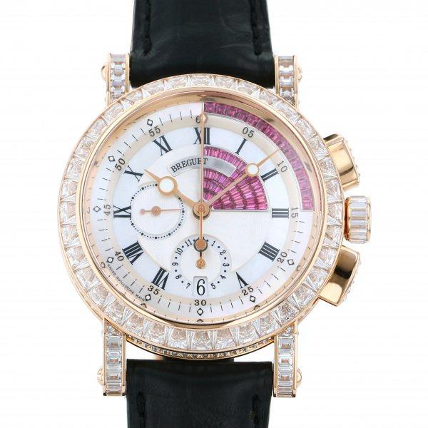 ブレゲ BREGUET マリーン クロノグラフ 5829BR/8R/9ZU DD0D ホワイト文字盤 メンズ 腕時計 【中古】