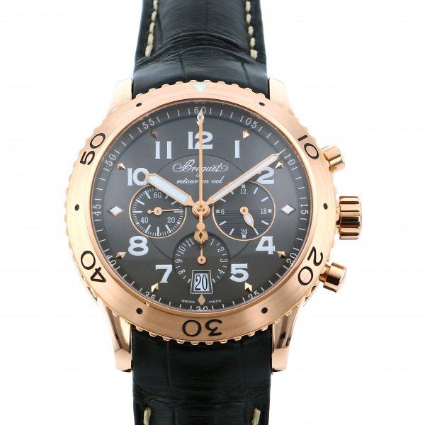【期間限定ポイント5倍 5/5~5/31】 ブレゲ BREGUET トランスアトランティック タイプXXI 3810BR/92/9ZU ブラウン文字盤 メンズ 腕時計 【中古】