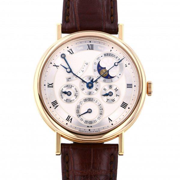 ブレゲ BREGUET クラシック パーペチュアルカレンダー パワーリザーブ 5327BR/1E/9V6 シルバー文字盤 メンズ 腕時計 【中古】