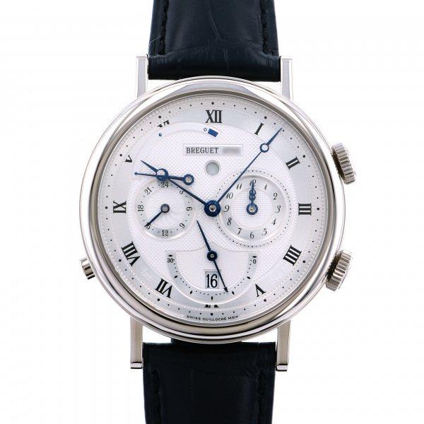 ブレゲ BREGUET クラシック GMTアラーム 5707BB/12/9V6 シルバー文字盤 メンズ 腕時計 【中古】