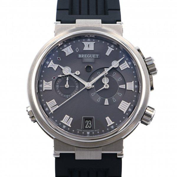 ブレゲ BREGUET マリーン アラーム ミュージカル 5547TI/G2/5ZU グレー文字盤 メンズ 腕時計 【新品】
