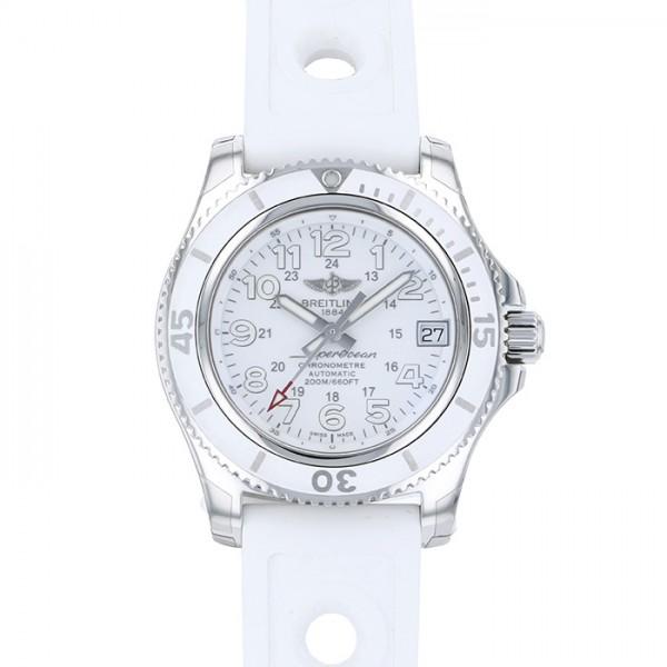 ブライトリング BREITLING スーパーオーシャン II 36 A162A75OPR ホワイト文字盤 レディース 腕時計 【新品】