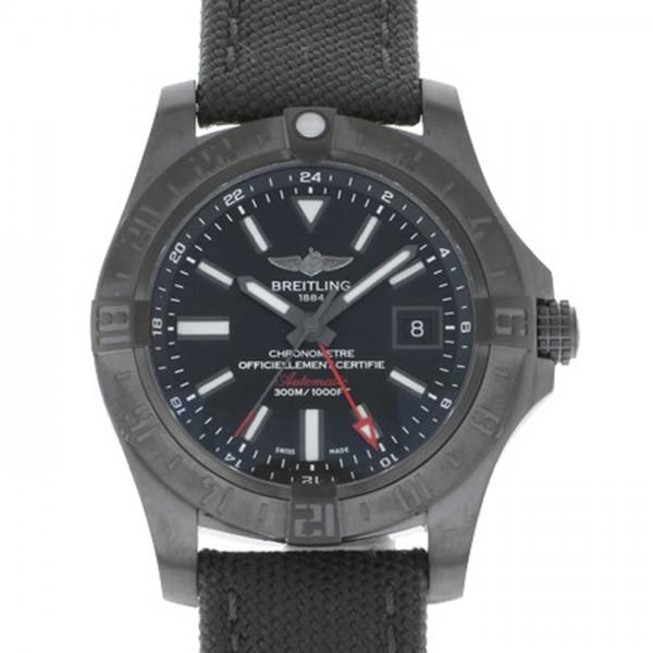 ブライトリング BREITLING アベンジャー II GMT ブラックスチール M329B04MMA ブラック文字盤 メンズ 腕時計 【新品】