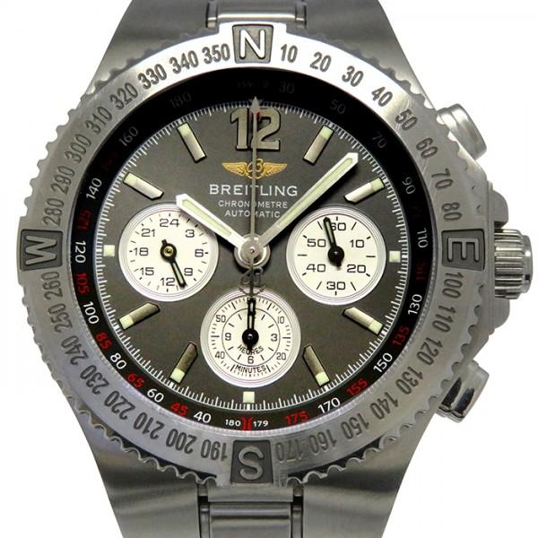 腕時計 BREITLING 【中古】 メンズ ハーキュリーズ その他 ブライトリング A39363 グレー/シルバー文字盤