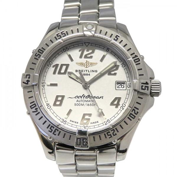 ブライトリング BREITLING その他 コルト オーシャン A17350 シルバー文字盤 メンズ 腕時計 【中古】