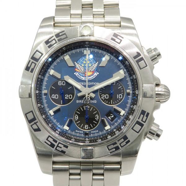 ブライトリング BREITLING クロノマット 44 ブルーインパルス 日本限定400本 AB0110(A013CBIPS) ブルー/ブラック文字盤 メンズ 腕時計 【中古】