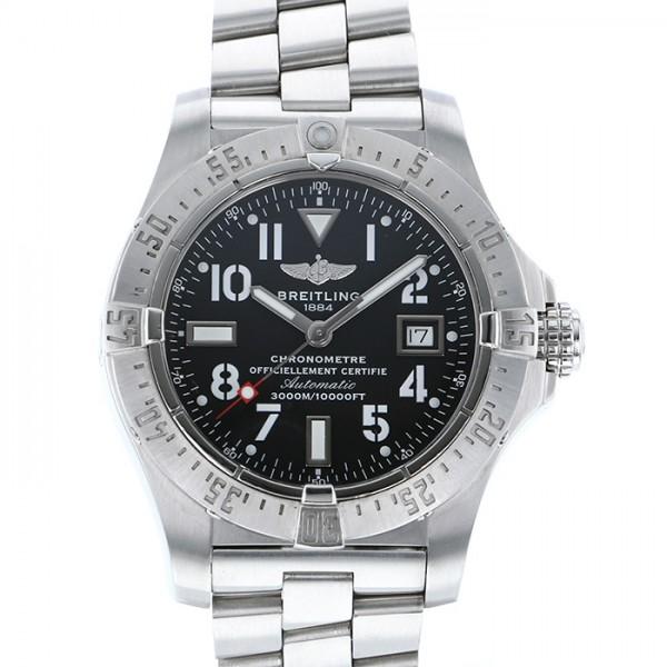 ブライトリング BREITLING アベンジャー A17330 ブラック文字盤 メンズ 腕時計 【中古】