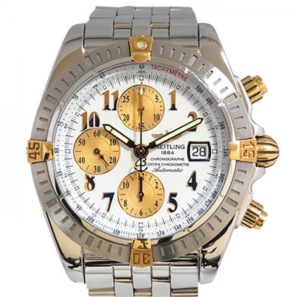 ブライトリング BREITLING クロノマット エボリューション ビコロ B13356 ホワイト文字盤 メンズ 腕時計 【中古】