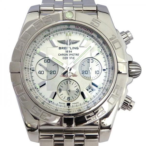 ブライトリング BREITLING クロノマット 44 A011G84PA シルバー文字盤 メンズ 腕時計 【中古】