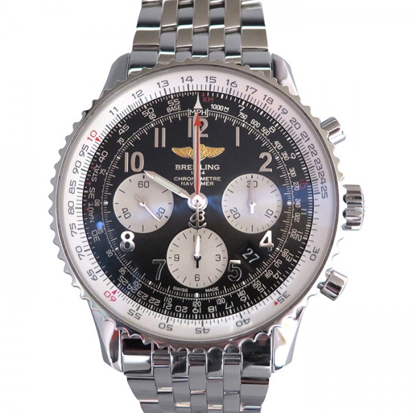 【全品 ポイント10倍 4/9~4/16】ブライトリング BREITLING ナビタイマー 01 AB012012/BB02 ブラック/シルバー文字盤 メンズ 腕時計 【中古】