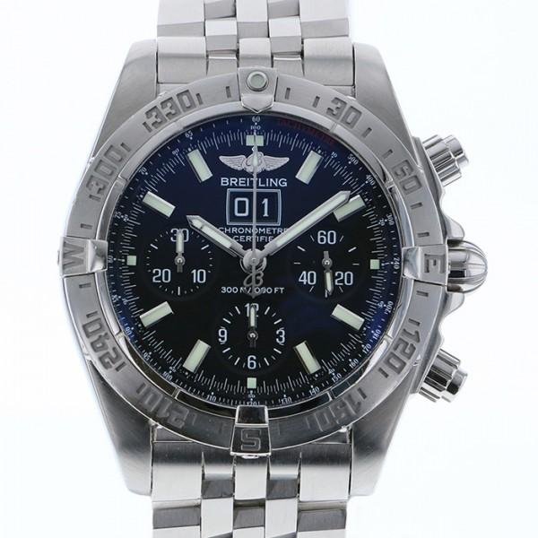 【全品 ポイント10倍 4/9~4/16】ブライトリング BREITLING クロノマット ブラックバード A44359 ブラック文字盤 メンズ 腕時計 【中古】