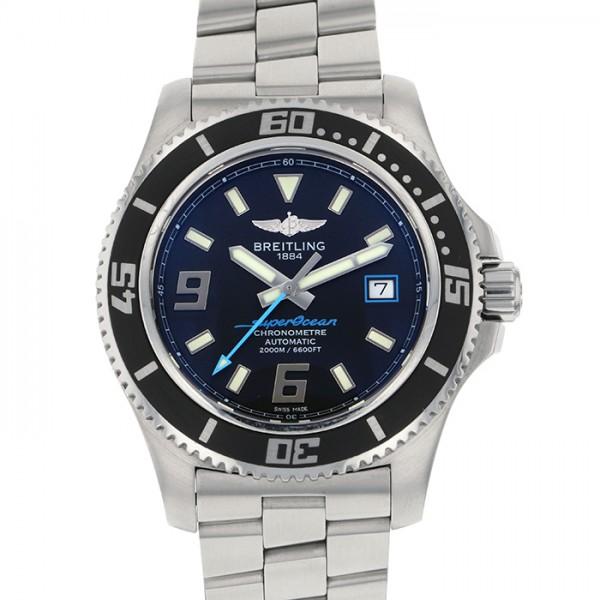 【全品 ポイント10倍 4/9~4/16】ブライトリング BREITLING スーパーオーシャン 44 A188B79PRS ブラック文字盤 メンズ 腕時計 【中古】