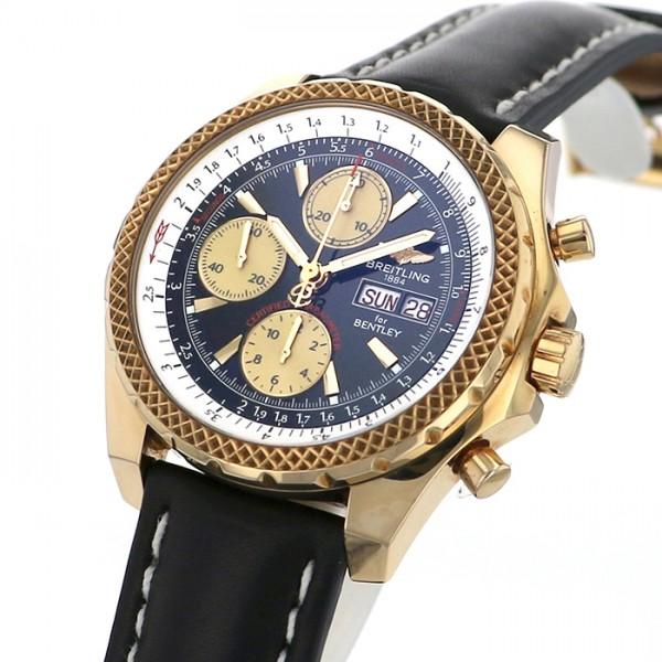 ブライトリング BREITLING ベントレー GT K13362 ブラック/ゴールド文字盤 メンズ 腕時計 【中古】