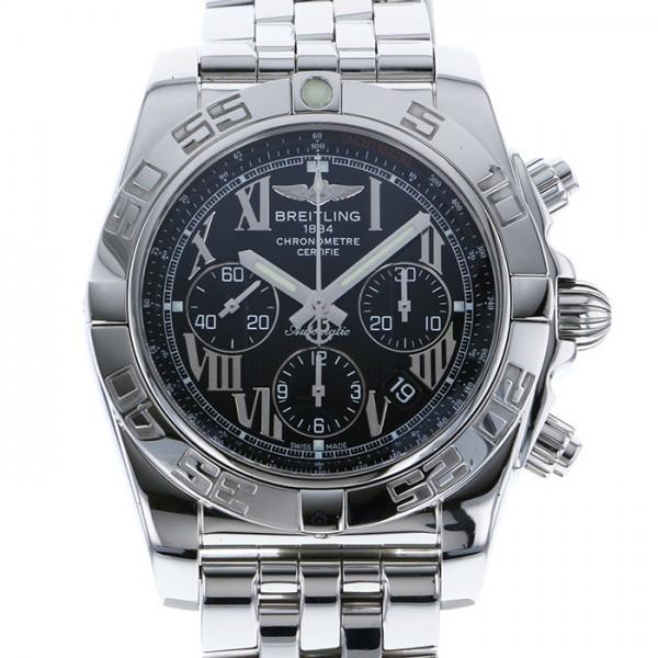 ブライトリング BREITLING クロノマット 44 A011B56PA ブラック文字盤 メンズ 腕時計 【中古】
