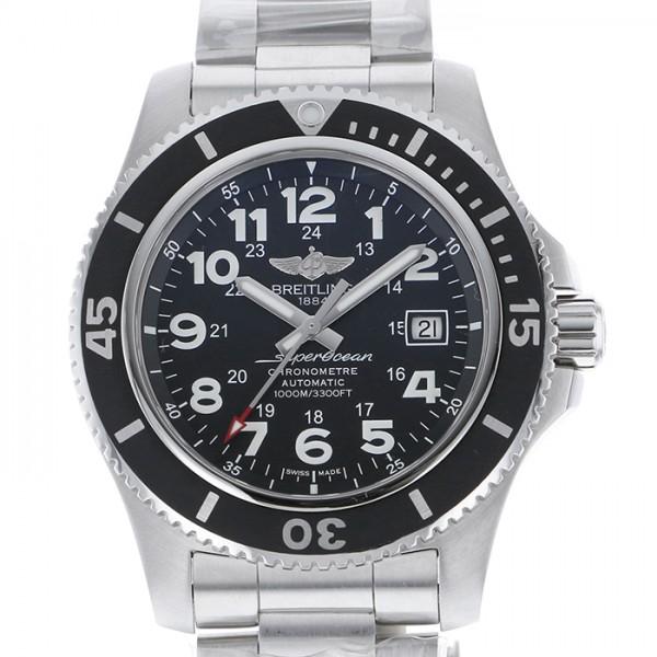 ブライトリング BREITLING スーパーオーシャン II 44 A192B68PSS ブラック文字盤 メンズ 腕時計 【中古】