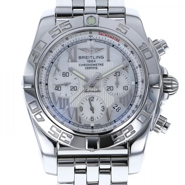 ブライトリング BREITLING クロノマット 44 A011A91PA ホワイト文字盤 メンズ 腕時計 【中古】