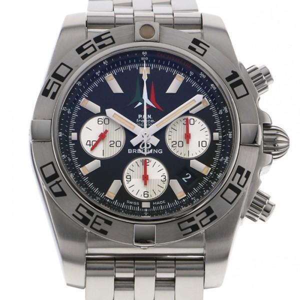 ブライトリング BREITLING クロノマット 44 フレッチェ・トリコローリ 世界限定1000本 A013BFTPS ブラック/シルバー文字盤 メンズ 腕時計 【中古】