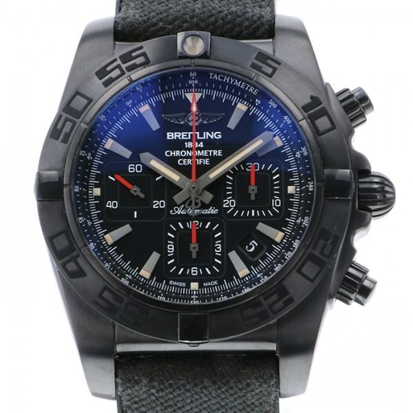 ブライトリング BREITLING クロノマット44 ブラックスチール M011B35ARB ブラック文字盤 メンズ 腕時計 【中古】
