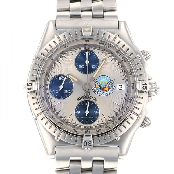 ブライトリング BREITLING クロノマット 世界限定1000本 A134EBIPA シルバー文字盤 メンズ 腕時計 【中古】