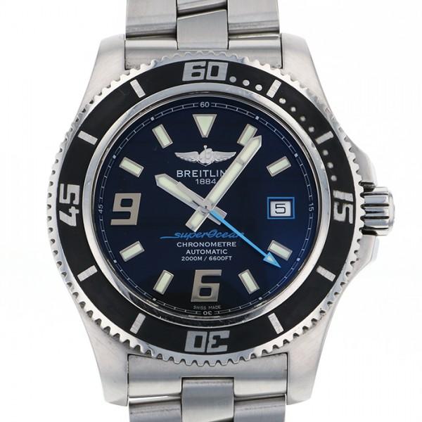 ブライトリング BREITLING スーパーオーシャン 44 A17391 ブラック文字盤 メンズ 腕時計 【中古】