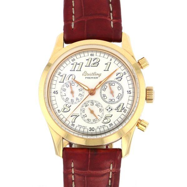 ブライトリング BREITLING ナビタイマー プレミエ クロノグラフ H42035 ホワイト文字盤 メンズ 腕時計 【中古】