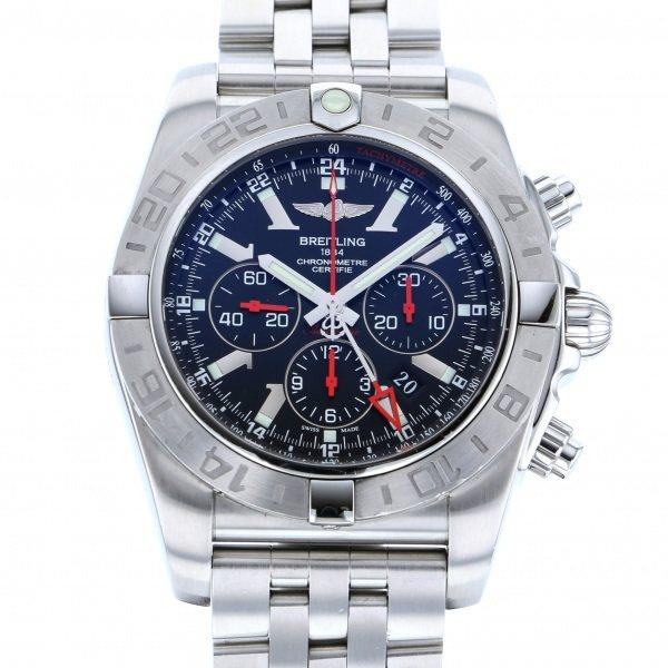 ブライトリング BREITLING クロノマット GMT AB0412/S041B48PS ブラック文字盤 メンズ 腕時計 【中古】